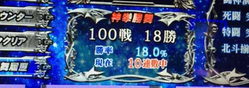 北斗 修羅 神拳勝舞10連敗